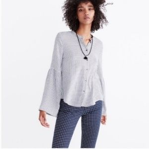 Madewell- Bell sleeve button down shirt